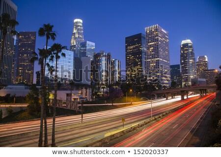 Verkeer centrum Los Angeles nacht verticaal afbeelding Stockfoto © tobkatrina