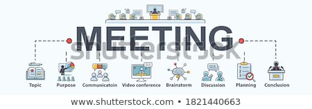 Reunião de negócios conferência mínimo bandeira vetor Foto stock © pikepicture