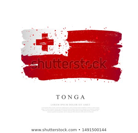Тонга флаг стороны белый фон путешествия Сток-фото © butenkow