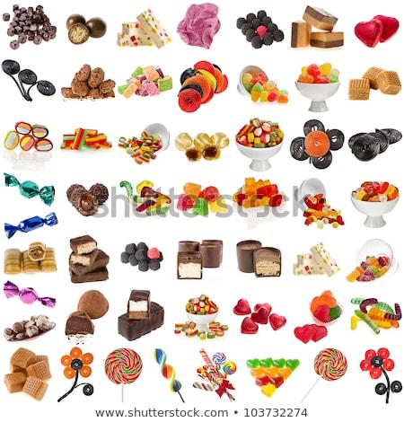 étcsokoládé cukorkák izolált fehér édes étel desszert Stock fotó © Anneleven