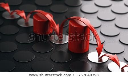 Akadályok nyilak piros fekete 3d illusztráció üzlet Stock fotó © olivier_le_moal