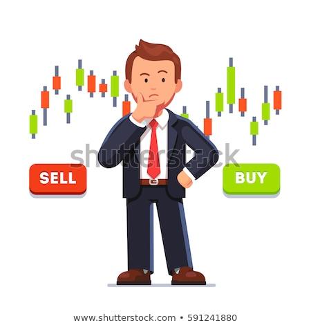 Tőzsde kutatás vektor metafora analitika gazdasági Stock fotó © RAStudio
