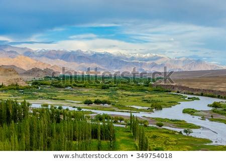 Panorama valle himalaya cielo natura montagna Foto d'archivio © dmitry_rukhlenko
