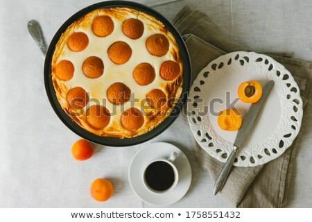 Zoete eigengemaakt taart zomer voedsel vruchten Stockfoto © furmanphoto