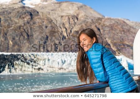 Mujer turísticos Alaska crucero vacaciones crucero Foto stock © Maridav