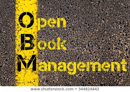 Libro abierto abreviatura css moderna tecnología negocios Foto stock © ra2studio