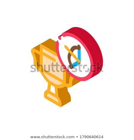 Tiro com arco campeonato copo isométrica ícone vetor Foto stock © pikepicture