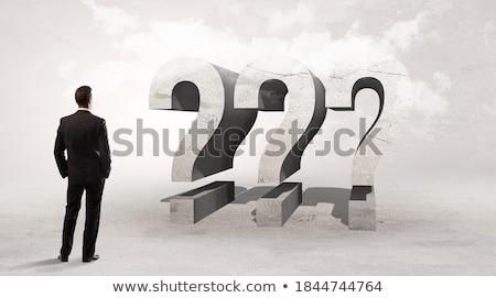 Achteraanzicht zakenman permanente afkorting salaris aandacht Stockfoto © ra2studio