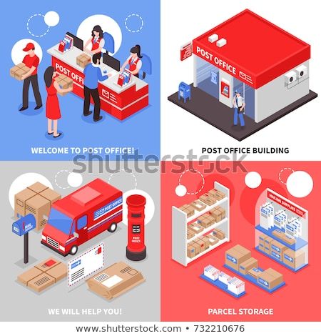 Oficina de correos documentos cartas expreso mensajero servicios Foto stock © RAStudio