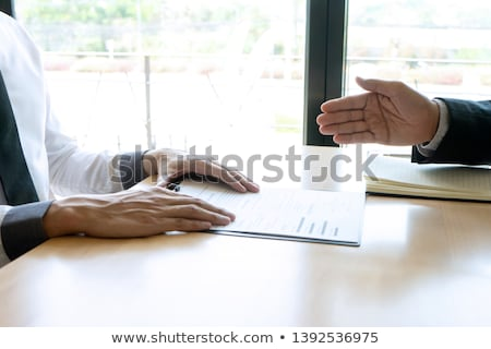 Interview the job and hiring, businessman candidate at job inter Stock photo © snowing