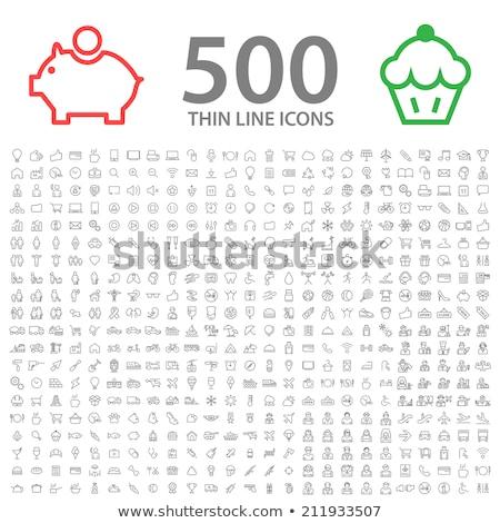 airport pictograms set stock photo © lirch