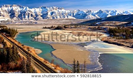 Athabasca River in Jasper National Park Stock photo © photoblueice