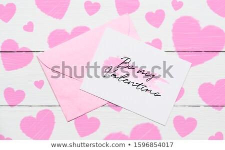 blank love letter in pink envelope stock photo © adrian_n