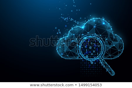 Stock photo: Magnifying Glass - Future