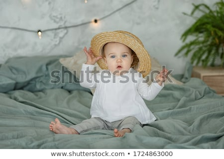 Charming baby toddler girl. Stock photo © lithian