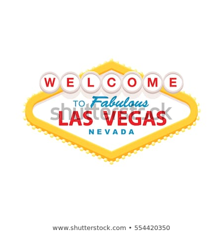Las Vegas Bienvenue signe design Voyage nuit Photo stock © rabbit75_sto