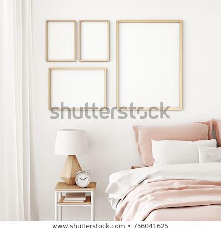 vier · frames · witte · muur · kunst · kamer - stockfoto © Paha_L