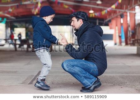 lächelnd · Kinder · Herbst · Park · Kindheit · Jahreszeit - stock foto © paha_l