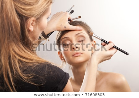 Stock photo: girl with creative hair-do