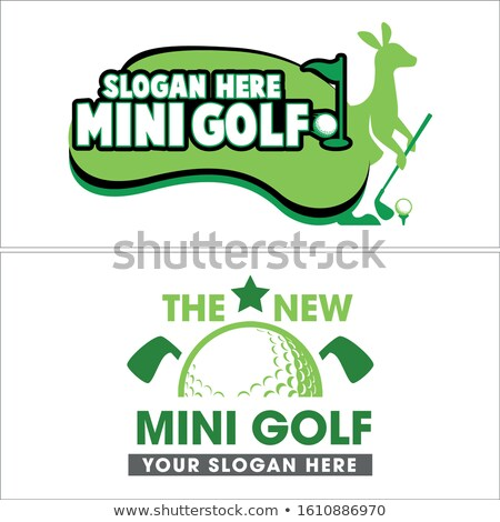 kangaroo playing golf Stock photo © pavelmidi