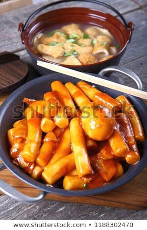 Cooking tteokbokki (korean traditional dish) Stock photo © dsmsoft