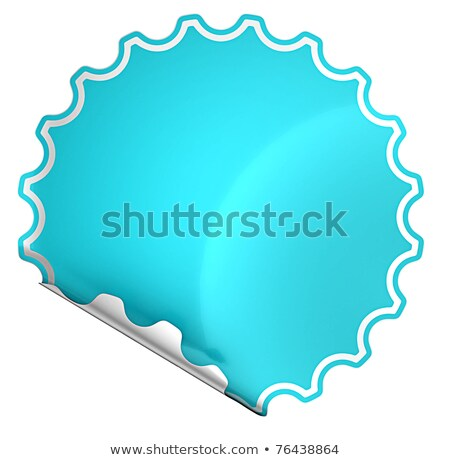 Blue rounded hamous sticker or label on white Stock photo © Arsgera