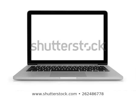 modern silver laptop keyboard concept photo stock photo © epstock