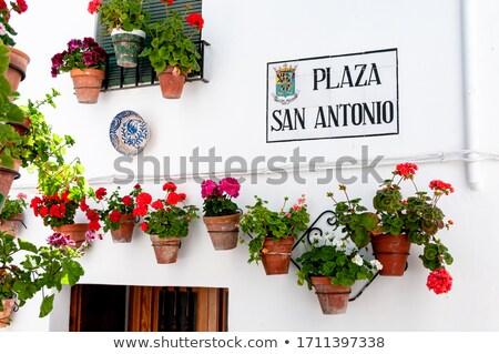 Placa de la calle España calle signo signos calles Foto stock © phbcz