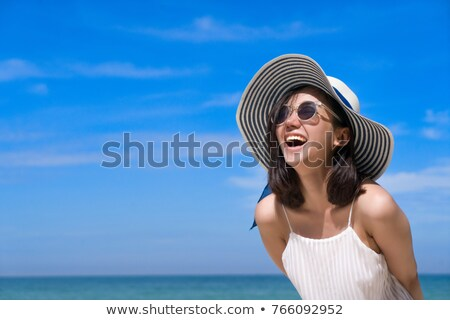 asian woman at sea stock photo © smithore