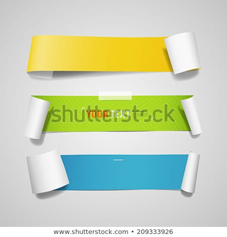 blue paper tags   vector ribbons stock photo © orson