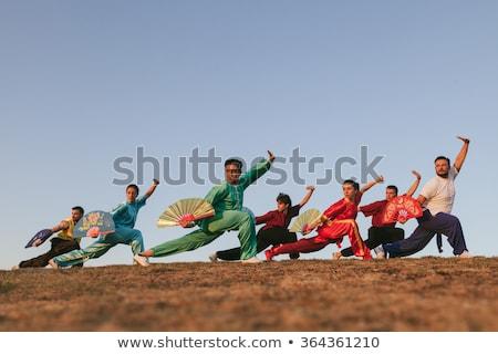 Stockfoto: Man · vechtsporten · buitenshuis · kunst · weefsel · kijken