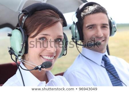 Man vrouw Open cockpit licht Stockfoto © photography33