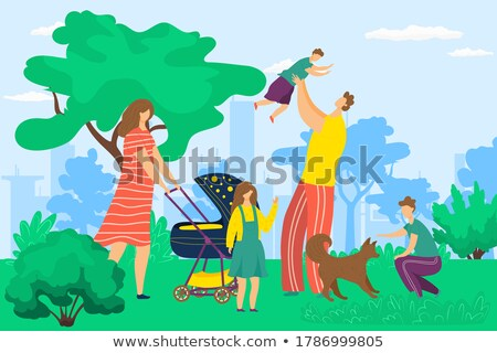Young children together in a park Stock photo © photography33