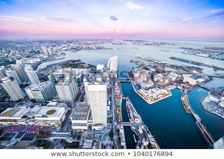 Иокогама · город · Япония · бизнеса · здании · морем - Сток-фото © yoshiyayo