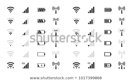 Teléfono iconos estado pantalla batería Foto stock © Vectorminator