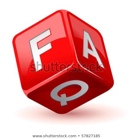 よくある質問 · サイコロ · シンボル · 情報 · 赤 - ストックフォト © stuartmiles