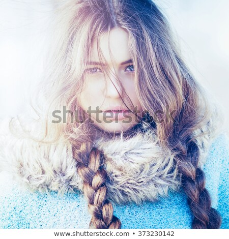 Pretty blonde with luscious lips Stock photo © stryjek