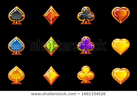póker · keret · tapéta · gyémánt · kártya · játék - stock fotó © carodi