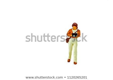Minyatür insanlar takım iş ofis kadın Stok fotoğraf © wisiel