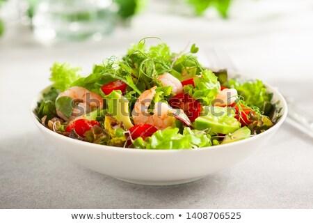 Салат · картофеля · соус · продовольствие · рыбы - Сток-фото © m-studio