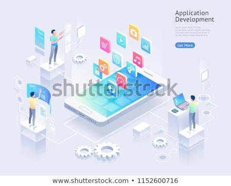 Zdjęcia stock: Application