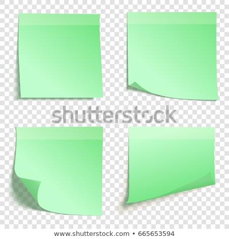 Verde carta da lettere bianco ufficio notebook lettera Foto d'archivio © devon