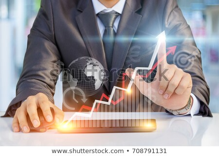 pound symbols on computer screen showing money and investment stock photo © stuartmiles