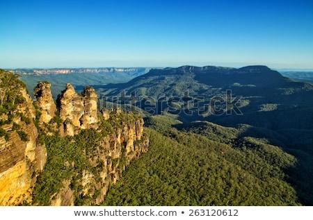 Azul montanhas Sydney Austrália três irmãs Foto stock © mroz