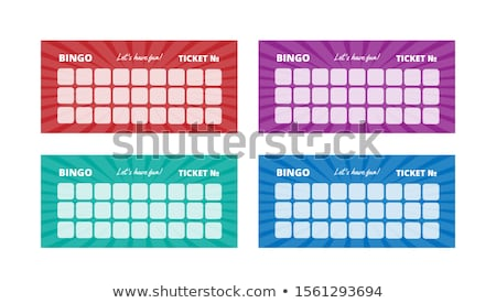 Pronto bingo feira verão tabela diversão Foto stock © michelloiselle