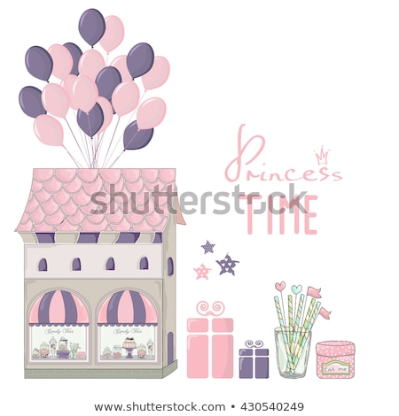 Cute little house and store Stock photo © ElaK