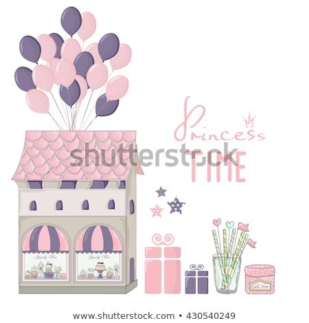 butik · ablak · nők · vektor · terv · illusztráció - stock fotó © elak
