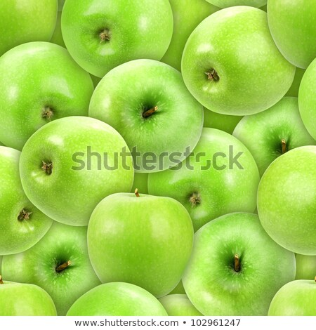 Seamless pattern of heap fresh green apple stock photo © boroda