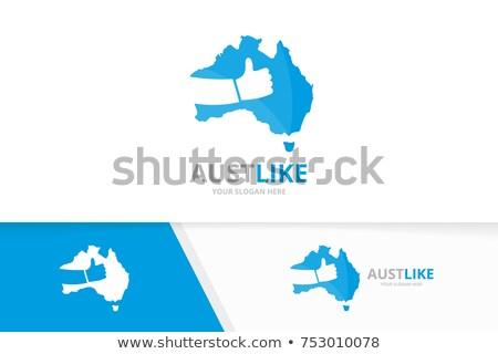 en · İyi · seçim · Avustralya · etiket · avustralya · bayrak · eps - stok fotoğraf © jet_spider