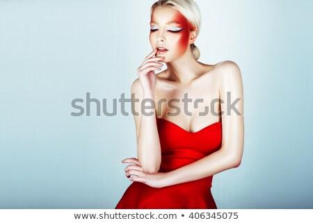 high · fashion · kadın · delici · gözler - stok fotoğraf © tobkatrina